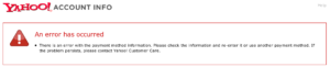 Yahoo Error