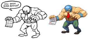 Derek Yu's pixel art luchador