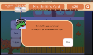 Mrs. Smiths grumpy dialog