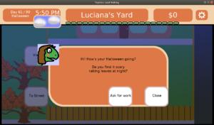 Luciana's dialogue on Halloween