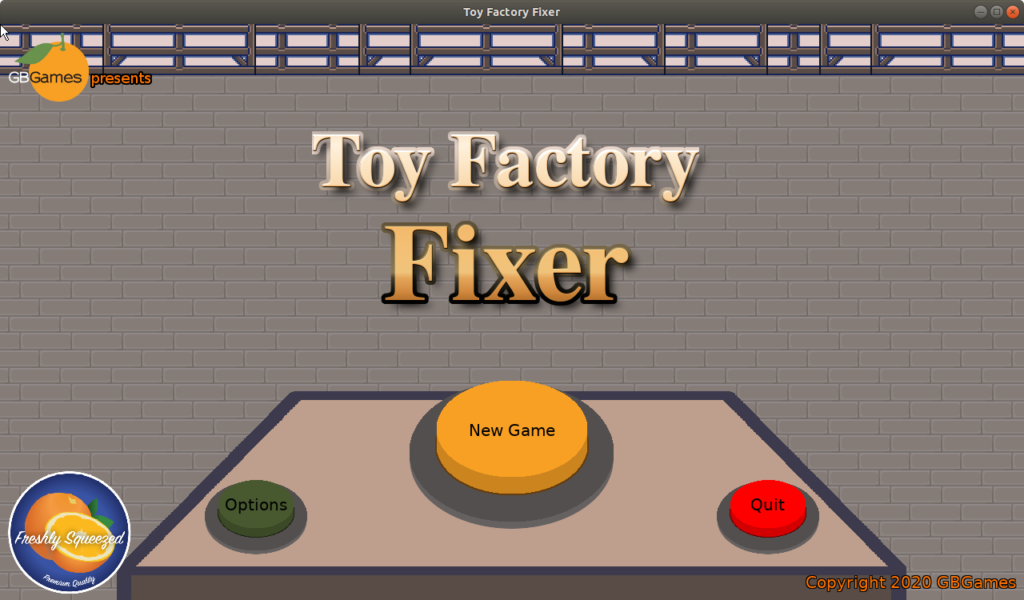 Toy Factory Fixer main menu
