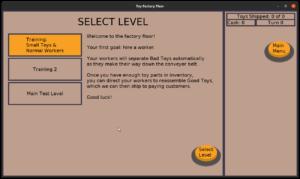 Toy Factory Fixer - training floor level 1