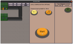 Toy Factory Fixer - updated level configuration menu